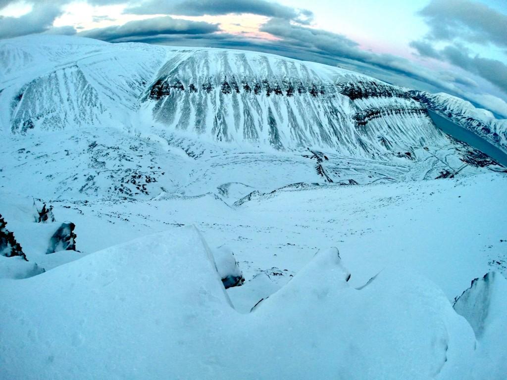 widok z lodowca svalbard