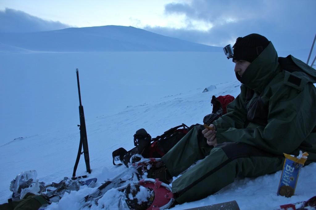 odpoczynek na lodowcu