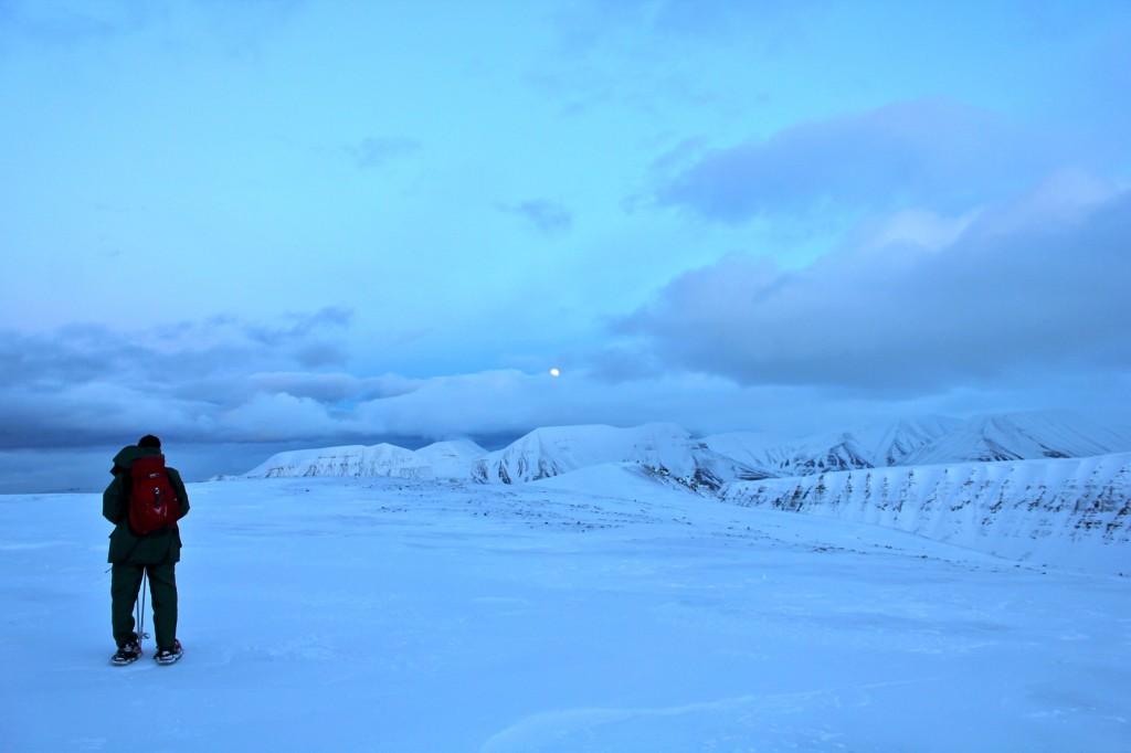na lodowcu svalbard